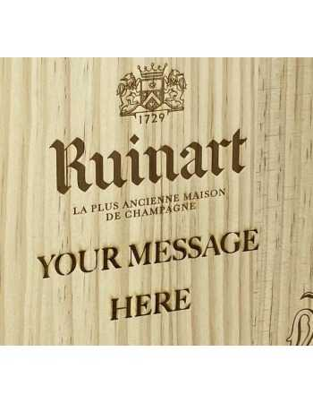 Ruinart WOOD box Blanc de Blanc & Personal Engraving GIFTBOX - 2 x 75 CL CHF194,00 PERSONALISATION