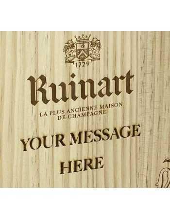 Ruinart Coffret BOIS Blanc de Blanc & Rosé + Gravure personnel du GIFTBOX - 2 x 75 CL CHF184,00  PERSONNALISATION