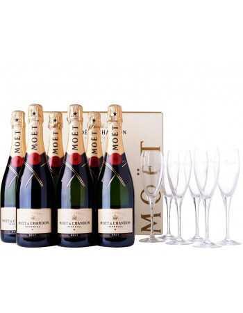 Moët & Chandon 6 x Impérial Brut - 75 CL + 6 glass CHF299,00 Moët & Chandon