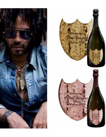 Dom Pérignon 6 Verres & 2 Giftbox Brut 2008 & Rosé 2006 LENNY KRAVITZ LIMITED EDITION - 2 x 75 CL CHF618,00 product_reductio...