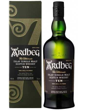 Whisky Ardbeg 10 YEARS OLD ISLAY SINGLE MALT - 46% - 70 CL CHF62,00  Whisky Ardbeg