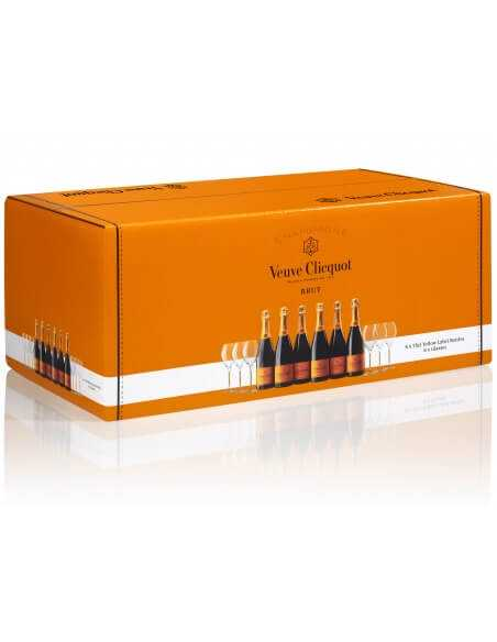 Veuve Clicquot Giftbox 6 Glasses Free & 6 Yellow Label Brut - 6x75 CL CHF 287,40  Veuve Clicquot