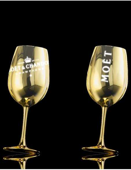 Moët & Chandon 2 Gold Ceramic Glasses & Impérial Brut Gold Printing - 75 CL CHF 102,50 PERSONALISATION
