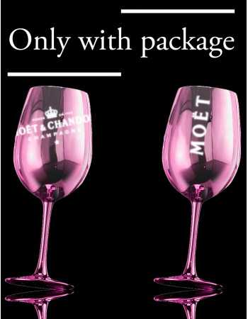 Moët & Chandon 2 PINK CERAMIC GLASSES CHF 40,00  Accueil