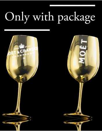 Moët & Chandon 2 GOLD CERAMIC GLASSES CHF 40,00  Accueil