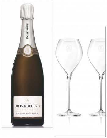 Louis Roederer Package 2 Glasses 28.5 CL & Vintage 2011 blanc de blanc - 75 CL CHF115,00 Louis Roederer