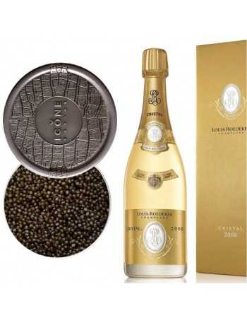 Cristal Louis Roederer Package Caviar Ossetra 125 G & Giftbox Vintage 2008 blanc - 75 cl CHF658,00 product_reduction_percent...