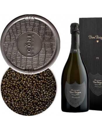 Dom Pérignon Package Caviar Ossetra 250 G & Giftbox P2 vintage 2002 blanc - 75 cl CHF1277,00 Caviar & Champagne
