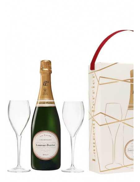 Laurent-Perrier La Cuvée & 2 Verres, Limited Edition Giftbox - 75 cl CHF55,00  Laurent-Perrier