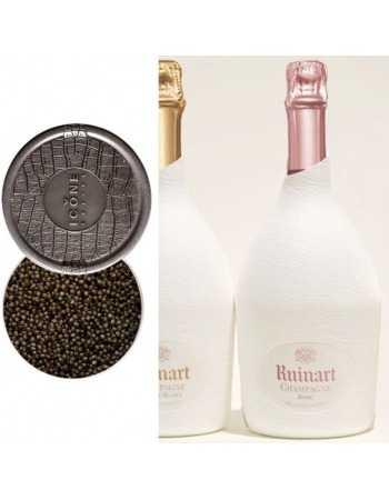 Ruinart Package Caviar Ossetra 50 G & Duo étui seconde peau Blanc de blancs & Rosé - 2 x 75 cl CHF340,00 product_reduction_p...