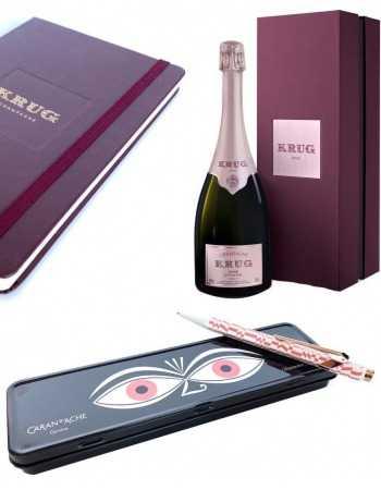 Krug Set Krug 21 : 1 Stylo Caran d'ache by Vitra + 1 Notebook Moleskin + 1 coffret 21e cuvée Rosé - 75 CL CHF398,00 product_...