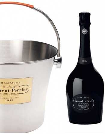 Laurent-Perrier Package Grand Siècle, 6 Giftbox 75 cl N°24 + 6 Glasses Grand Siècle + 6 Sous Verres + 1 Ice Bucket Big Size C...