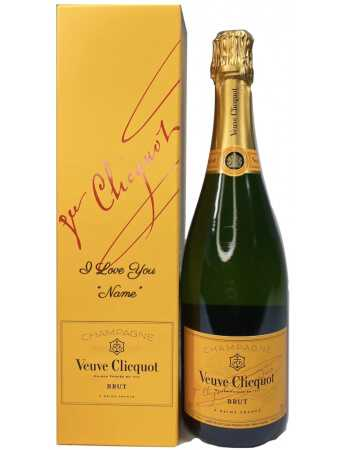 Veuve Clicquot Yellow Label brut & Persönliche Gravur Ihrer GiftBox - 75 CL CHF63,90  PERSONALISIERUNG