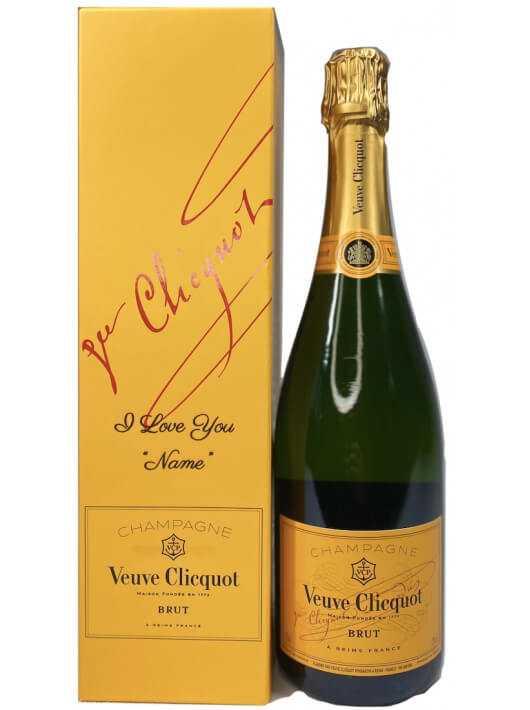 Veuve Clicquot Yellow Label brut & Gravure personnel du GIFTBOX - 75 CL CHF62,90  PERSONNALISATION