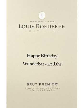 Louis Roederer LOUIS ROEDERER Brut Premier 75 CL + 2 Verres & Gravure personnel du GIFTBOX CHF114,00  PERSONNALISATION
