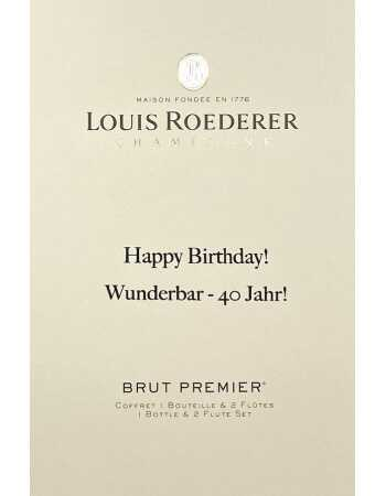 Louis Roederer LOUIS ROEDERER BRUT PREMIER 75 CL + 2 Glasses & Personal Engraving GIFTBOX CHF 114,00 PERSONALISATION
