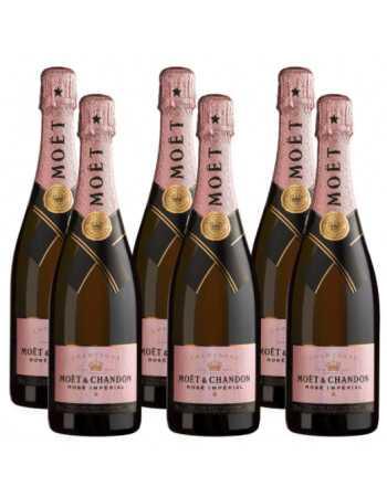 Moët & Chandon Giftbox Impérial rosé - 6 x 75 cl CHF359,40 -10% Moët & Chandon