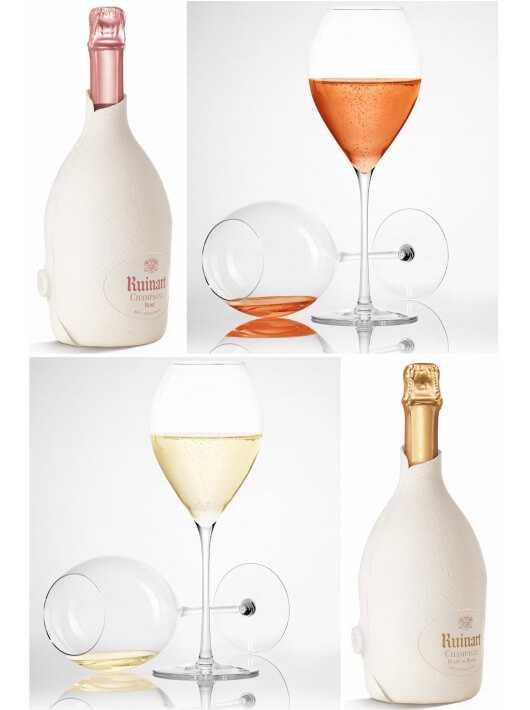 "Ruinart Set : 6 glasses + Duo Second Skin ""Blanc de blancs & Rosé"" - 2 x 75 CL CHF258,00 Ruinart"