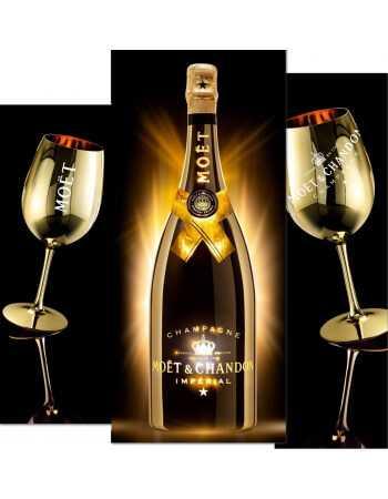 "Moët & Chandon Set : 2 Gold ceramic glasses + 1 Bright Night ""LED"" - 150 CL CHF189,00 Home"