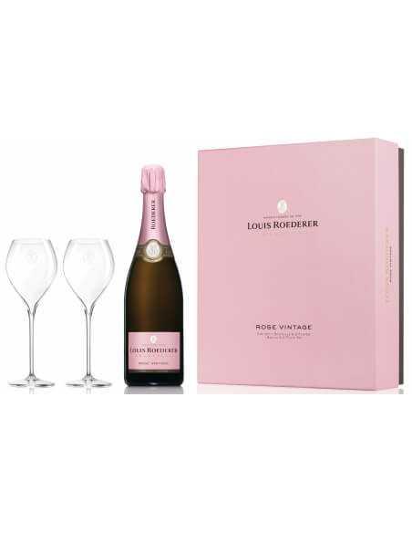 Louis Roederer Giftbox 2 glasses + Vintage 2014 rosé - 75 CL CHF119,00 Louis Roederer