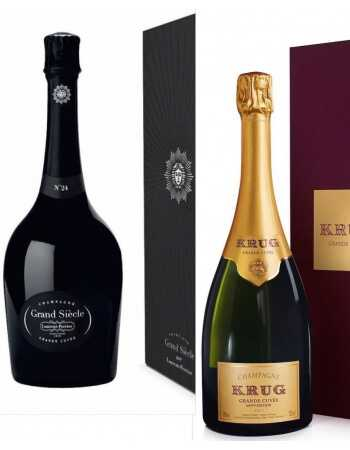 Champagne Set : 1 giftbox Krug Grande Cuvée + 1 giftbox Laurent-Perrier Grand Siècle - 2 x 75 CL CHF368,00 Champagne