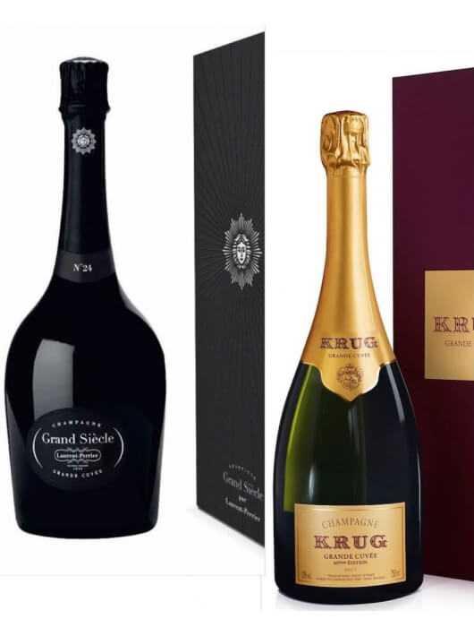 Champagne Set : 1 coffret Krug Grande Cuvée + 1 coffret Laurent-Perrier Grand Siècle - 2 x 75 CL CHF358,00 product_reduction...