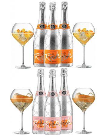 Veuve Clicquot 6 neutral cocktail glasses 75 CL + 3 Rich Brut + 3 Rich Rosé - 6 x 75 CL CHF467,00 Promotions