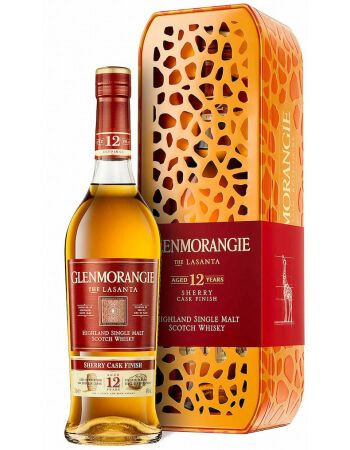 Whisky Glenmorangie Limited Edition Girafe Giftbox Lasanta 12 years - 43% - 70 CL CHF64,90  Whisky Glenmorangie