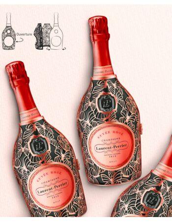 """Laurent-Perrier Set : 6 Cuvée rosé """"Papillon"""" + 1 Magnum Ice Bucket + 6 Prestige Glasses - 6 x 75 cl CHF743,00 product_reduc..."""